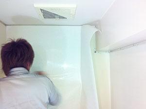 浴室・バスルームの壁の修繕・リフォーム作業