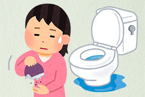 トイレの水漏れの図