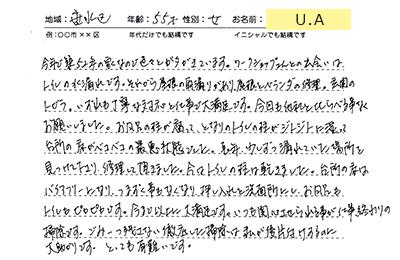 神戸市垂水区のU.A様のアンケート